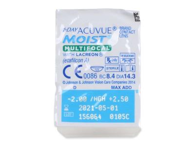 1 Day Acuvue Moist Multifocal (30 lenses) - Blister pack preview