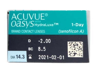 Acuvue Oasys 1-Day (30 lenses) - Attributes preview