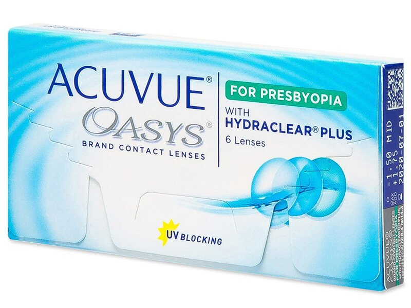 Acuvue Oasys for Presbyopia (6 lenses) - Multifocal contact lenses