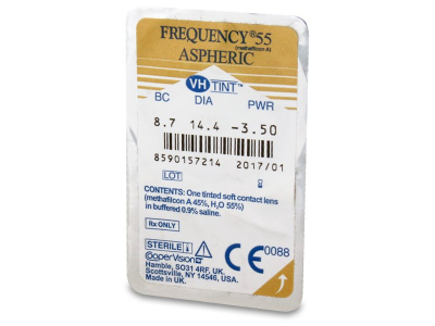 Blister pack preview - Frequency 55 Aspheric (6 lente)