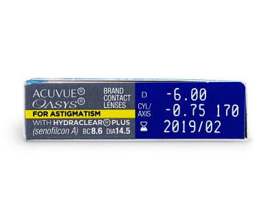 Acuvue Oasys for Astigmatism (6 lente) - Attributes preview