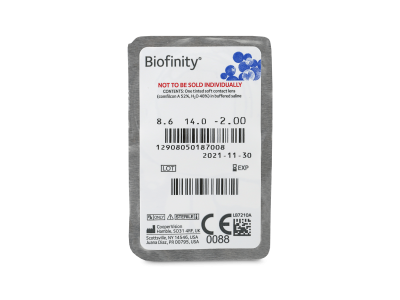 Biofinity (6 lente) - Blister pack preview