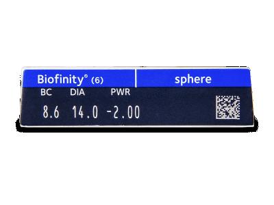 Biofinity (6lente) - Attributes preview