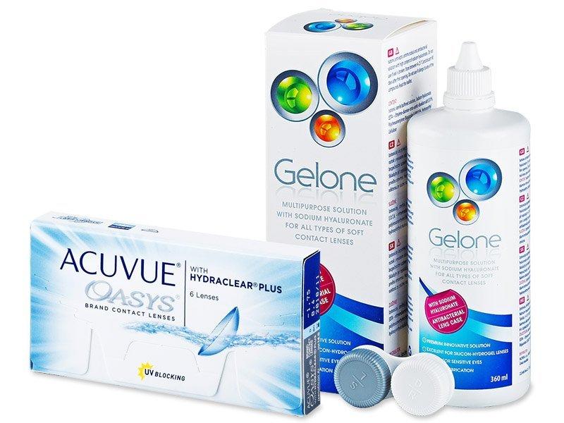 Acuvue Oasys (6lente) +GeloneSolucion 360ml - Package deal