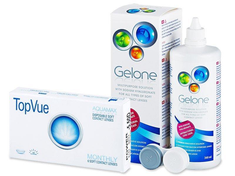 TopVue Monthly  (6lente) +GeloneSolucion 360ml - Package deal