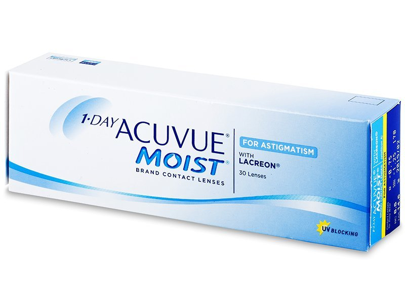 1-Day  Acuvue Moist for Astigmatism (30lente) - Toric contact lenses