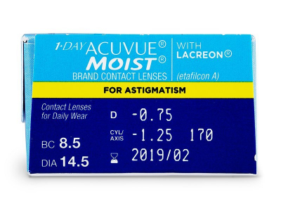 1-Day  Acuvue Moist for Astigmatism (30lente) - Attributes preview