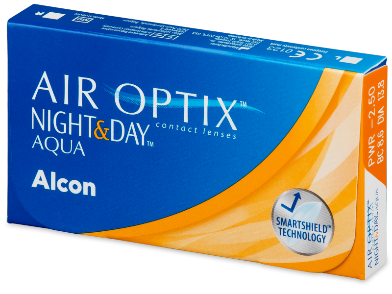 Air Optix Night and Day Aqua (3 lente) - Monthly contact lenses