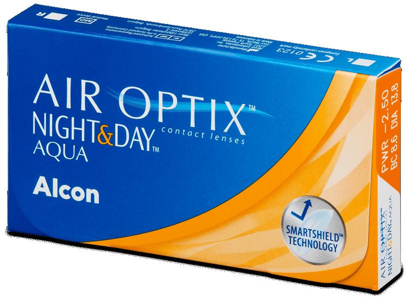 Air Optix Night and Day Aqua (6lente) - Monthly contact lenses